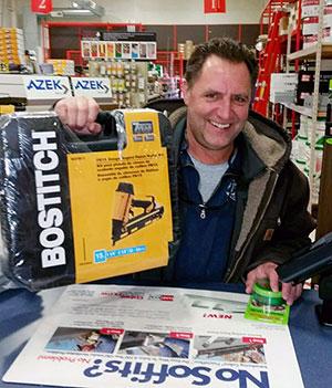 Northeast Building Supply's December Raffle Winner, Mike Henrick