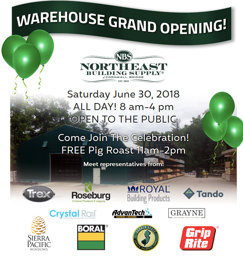 warehouse opening