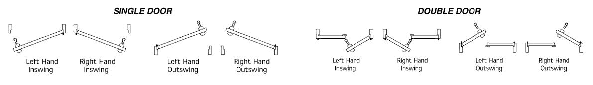 exterior door handings