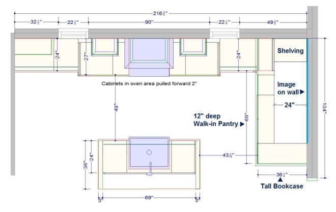 Medallion KBIS Farmhouse kitchen walk in pantry plan