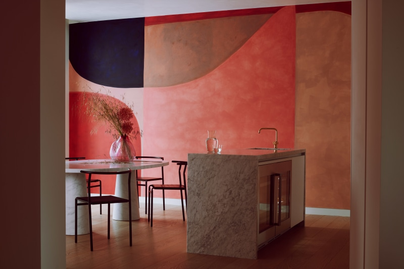Roksanda Penthouse Kitchen and Dining Room Gasholders London Web Photography by Michael Sinclair Styling by Olivia Gregory