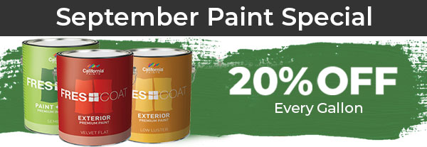 California Paints September Special