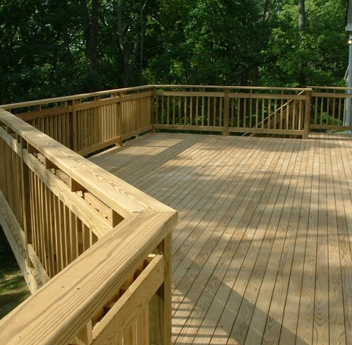 Pressure treated decking material