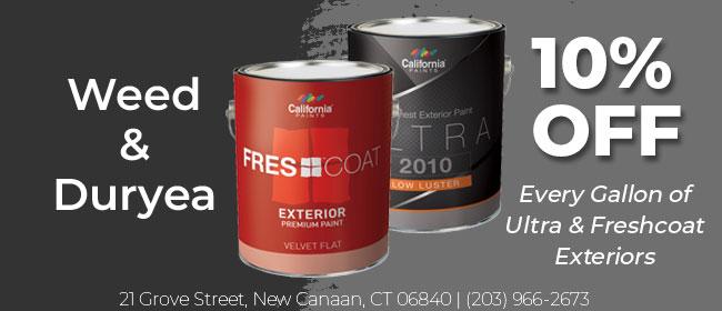Weed & Duryea - 10% Off California Paints